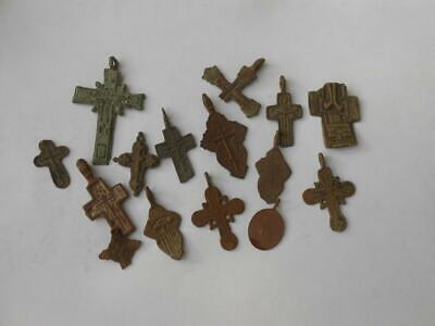 10 ancient cross 17-18 century + bonus. lot № 22
