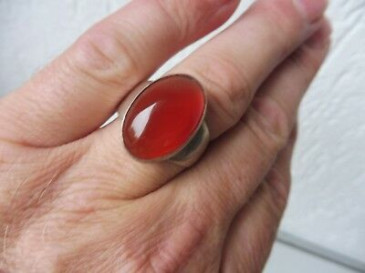 Beautiful, Old Ring __925 Silver __ with Beautiful, Red Stone __