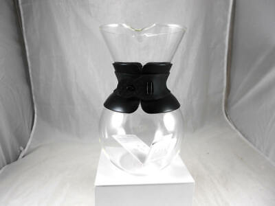 Fabulous BODUM Pour Over  Clear Glass Carafe Filtered Coffee Maker  in Black