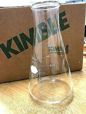 Kimble KIMAX Glass 500mL Wide Mouth Beaded Conical Erlenmeyer Flask 26650( 6Nos)