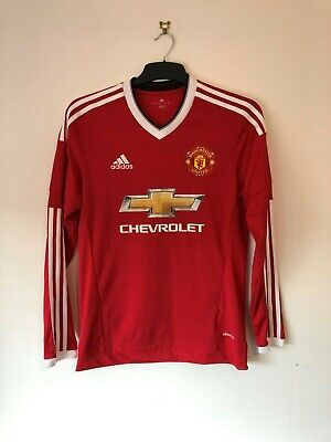 Manchester United 2015/16 Small Football shirt home 15/16 S Long Sleeve
