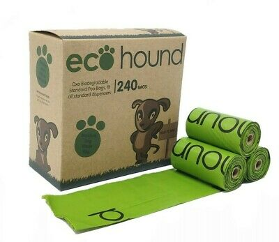 Ecohound ECO Dog Poo Bags OXO- Biodegradable Standard Dog Waste Bags on Rolls!