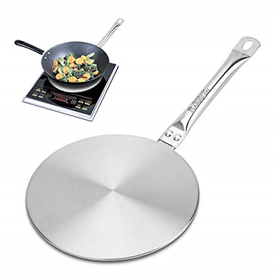 20//22//24cm Stainless Steel Induction Hob Heat Diffuser Plate Cooking Tool Sliver