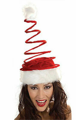 Funny TALL RED BENDABLE SANTA HAT Long Adult Christmas Cap Elf Dr Seuss Belt Toy