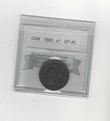 1888 ,Coin Mart Graded Canadian, Large One Cent, **EF-40**
