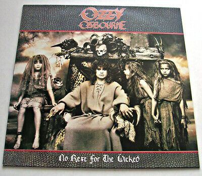 Ozzy Osbourne 'No Rest For The Wicked' 1988 Stereo Lp Ex/Ex