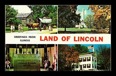 Dr Jim Stamps Us Greetings From Illinois Land Of Lincoln Four Views Postcard