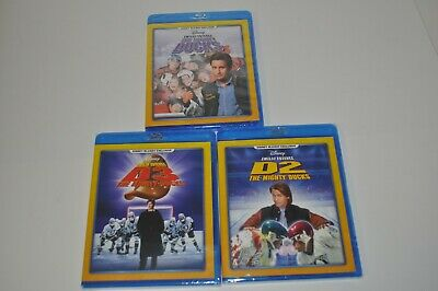 Disney The Mighty Ducks Trilogy D1-D2-D3 Blu-Ray Exclusive *NEW*