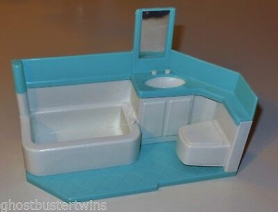 Htf Little Tikes Vintage Dollhouse Family Replacement Bathroom  Doll Furniture