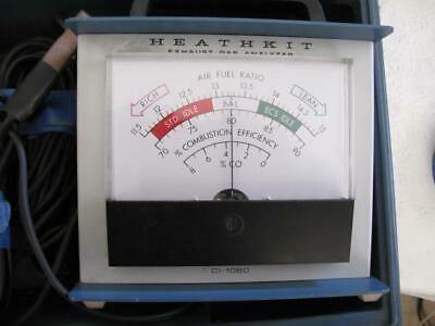 Vintage Car Heathkit Exhaust Gas Analyzer CI 1080 tested  w/ instructions