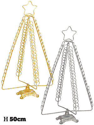 50cm 80 Card Christmas Card Holder Freestanding Folding Decoration Table Stand