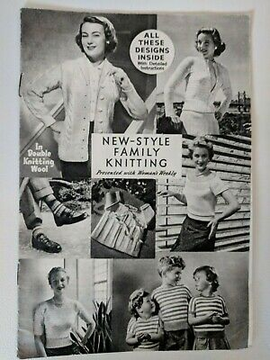vintage New Style Family knitting pattern booklet - Woman's Weekly