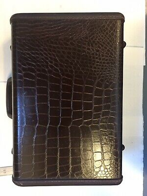 Beautiful Vintage Samsonite Faux Alligator/ Crocodile Leather Luggage Over Night