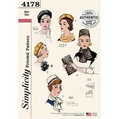 Simplicity Sewing Pattern 4178 Misses' Vintage 60s Accessories *New*