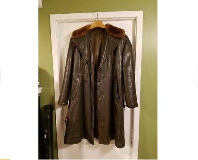 Vintage WWII 40s US NAVY M-69F Leather Transport Aircraft Coat sz 40
