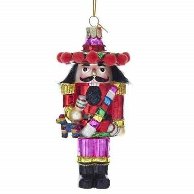 Noble Gems Mexican Nutcracker Glass Christmas Tree Ornament 5 Inch NB1325 New