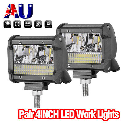 4inch 9000LM Cree LED Driving Light Side Shooter Spot Flood Work Driving Lamp x2