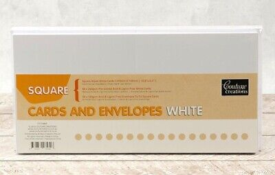 Couture Creations Card + Envelope Set - White Square (50 Sets)
