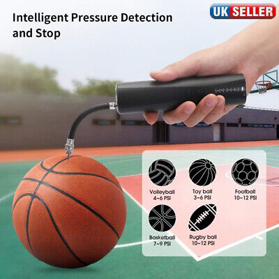 Quick Inflating Electrical Air Pump With Needle Adapter for Ball Football Sports