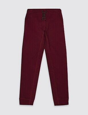 Marks & Spencer Boys Easy Dressing Joggers Age 4-5 Years BNWT RRP £13.50 Berry