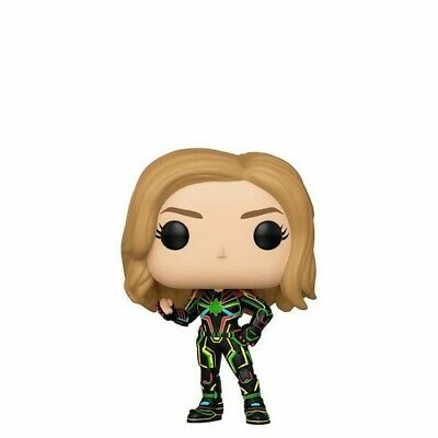 Captain Marvel W/ Neon Suit - Funko Pop! Marvel: (Toy New)