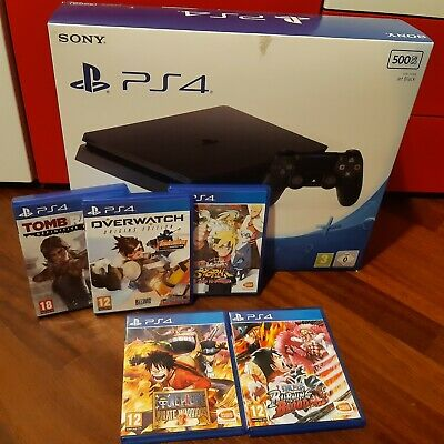 Console Sony ps4 500gb black+5 giochi usati
