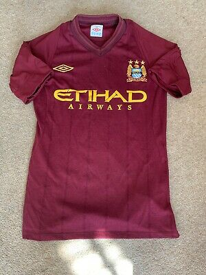 Manchester City Umbro away Men's Football Shirt Small