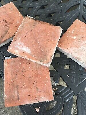 "35 Victorian antique reclaimed tiles 6x6"" - reduced price to clear"