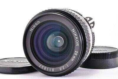 (Excellent +++++)NIKON AI-S NIKKOR 28mm f/2.8 MF SLR Lens  From JAPAN A189