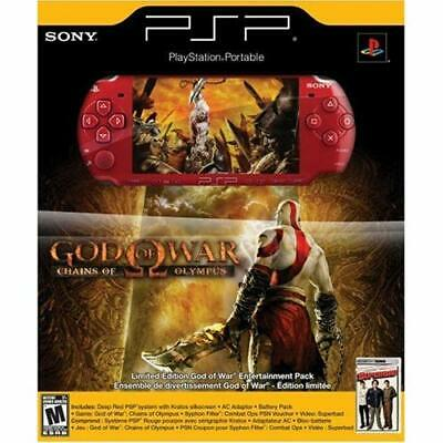 PlayStation Portable Limited Edition God Of War Chains Of Olympus PSP 2000 3Z