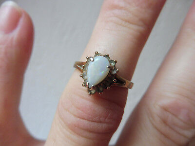 Very Beautiful Age Ring __925 Silver Plated__with Opal __