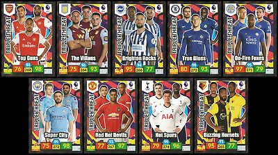 FULL SET of 9 TRIPLE THREAT Panini Adrenalyn Premier League 2019/20 cards