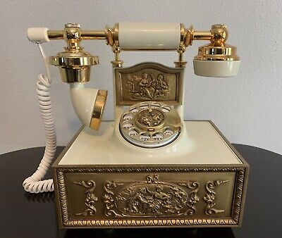 Western Electric Rotary Dial Victorian French Cradle Style Desk Telephone