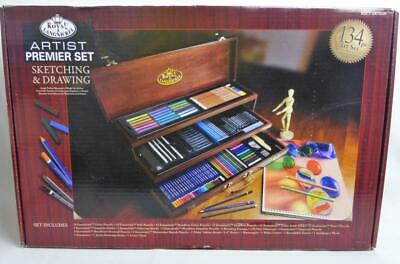 Artist Premiere Sketching Drawing 134 Pcs Royal Langnickel Pastels Pencils Stump