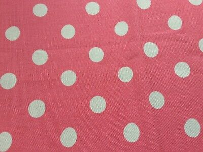 CATH KIDSTON  BUTTON SPOT ROSE PINK SCRAP FABRIC NEW 152 cm x 20 cm