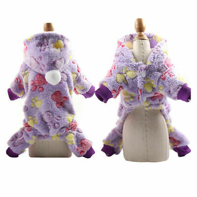 Dog Clothes Dog Soft Fleece Jumpsuit Winter Small Puppy Coat Pet Outfits Hoodie