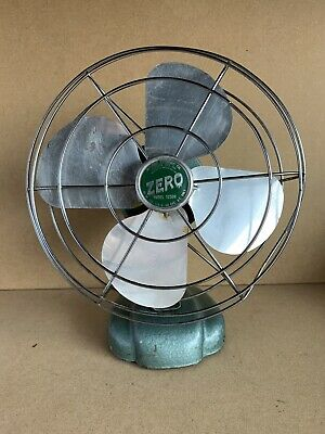 "Vintage McGraw Electric Co Zero Metal 8"" Desk Fan #1250R Non Working Decoration"