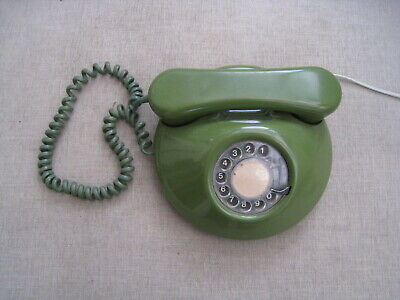 Vintage 1970's ? green Northern Telecom round dial phone in working order