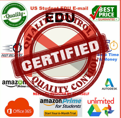 EDU EMAIL Amazon Prime 6 months Unlimited Google DRIVE OFFICE ✅INSTANT DELIVERY✅