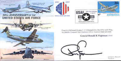 CC35 JSCC USAF RAF cover signed General FOGLEMAN US Chief of Staff