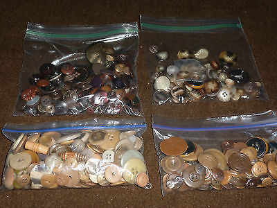 Great Collection of Hundreds of Vintage and Modern Buttons in BROWN, BEIGE, TAN