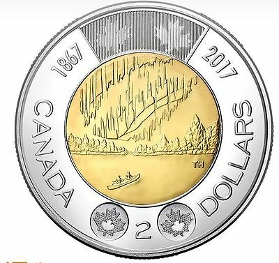 Canada 2017 $2 Coin Dance Of The Spirits 150th Anniversary Of Canada.