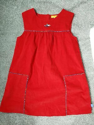 Little Bird By Jools Oliver At Mothercare Red Needlecord Dress Size Age 7-8 Year