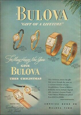 1948 Vintage ad for Bulova Watches`reto Multiple styles pictured  091519
