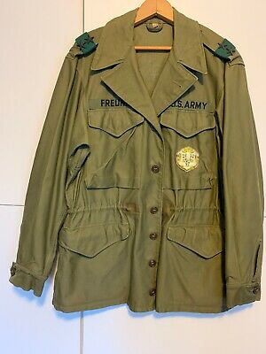 Original WWII US Army M-1943 FIELD JACKET dated 1945 NAMED Major General size38R
