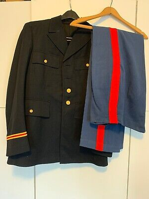 WWII US Army M1938 NAMED Officer's Dress Blue Uniform EXCELLENT