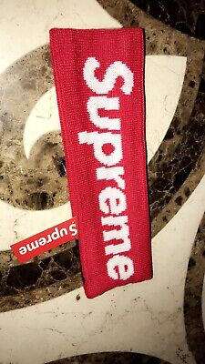 Supreme New Era Headband Red New with tag 2014 2018 Fast Shipping.