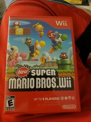 New Super Mario Bros. Wii (Nintendo Wii, 2009)complete with the manual