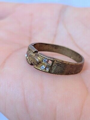Ancient Antique Roman Ring Bronze Artifact Very Old Legionary Extremely Rare