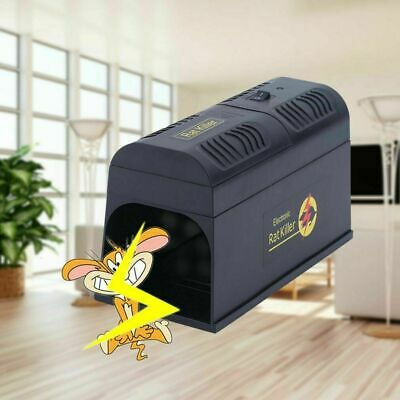 Poison Free Electronic Mouse Rat Trap Rodent Pest Control Killer Electric Zapper